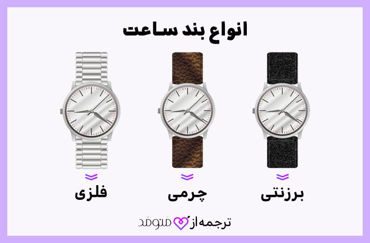 انواع بند ساعت