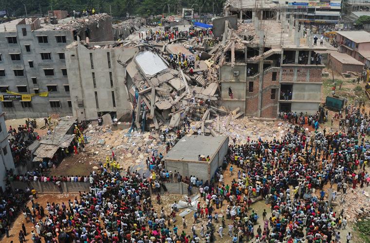 ریزش ساختمان رانا پلازا در بنگلادش