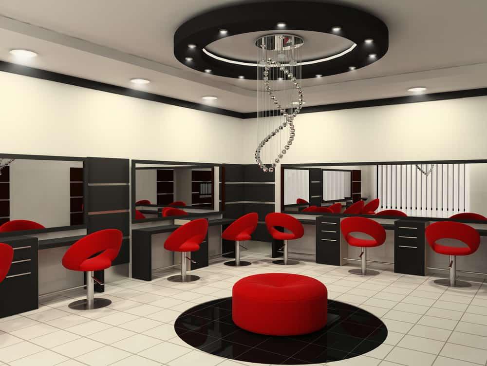 رنگ قرمز برای دکوراسیون سالن زیبایی